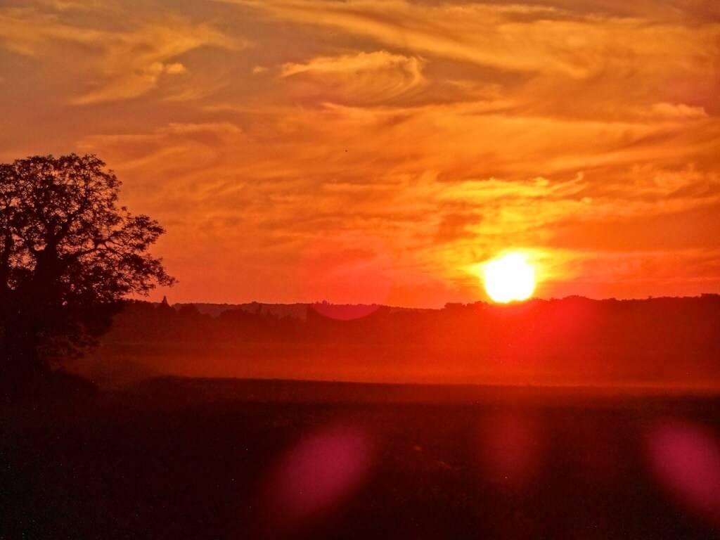 Couché de soleil à Barbizon (77), la plaine de l'ANgelus