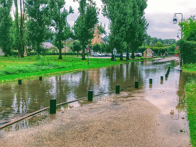 Inondation en Septembre 2017 a Arbonne-la-Foret