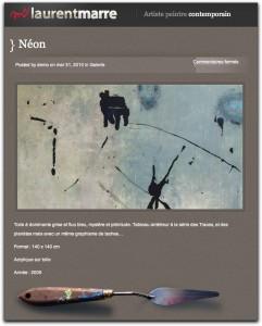 Vue du nouveau site de Laurent Marre - Peintre Contemporain