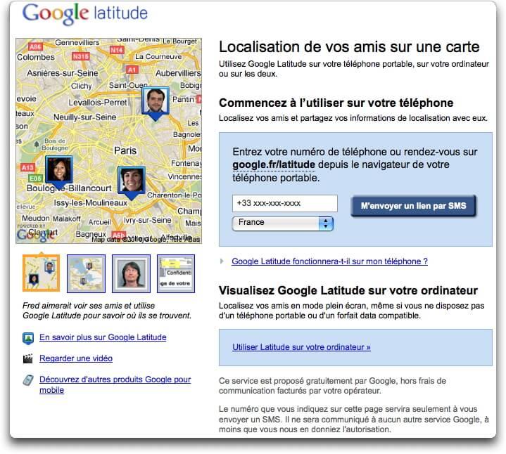 Visualisation de vos amis sur une carte - Google Latitude