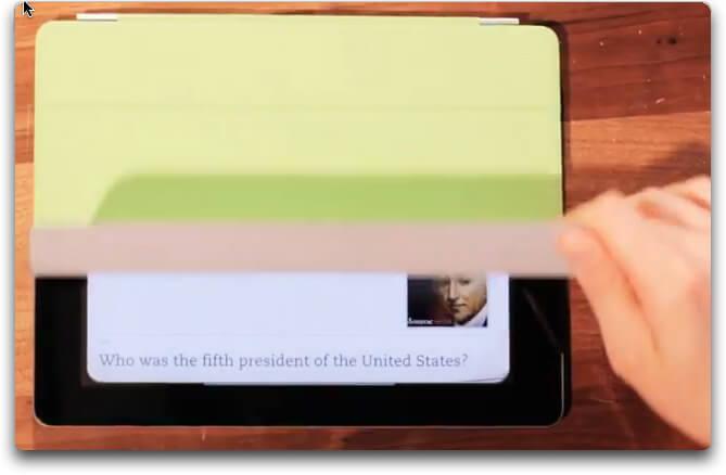 iPad2 – La premiere application avec le SmartCover