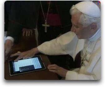 Pape tweet avec iPad