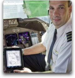 iPad dans cockpit des United Airlines