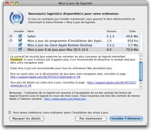 Maj Apple contre Flashback