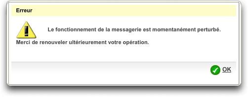 webmail.laposte.net et pop.laposte.net hors service