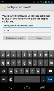 Configuration email android