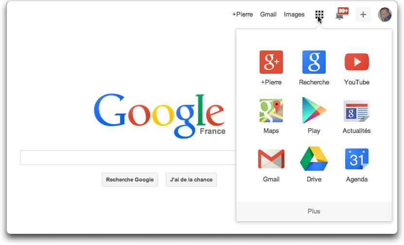 Google : nouvelle présentation
