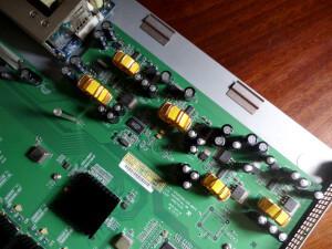Cisco Linksys SRW2048 alla capacitors