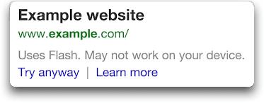 SEO – le Flash dans les sites mobiles pénalisé par Google