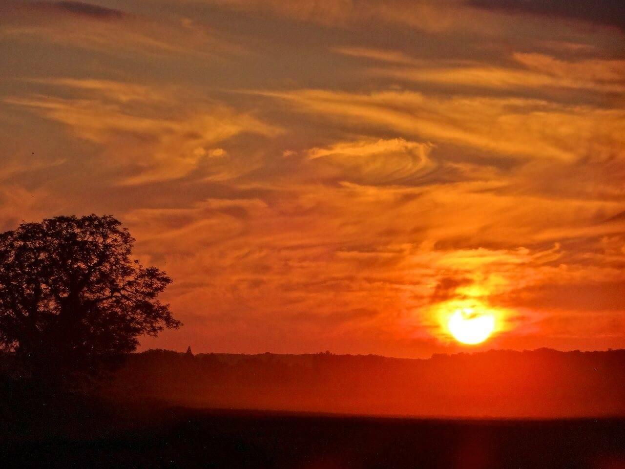 Coucher de soleil à Barbizon