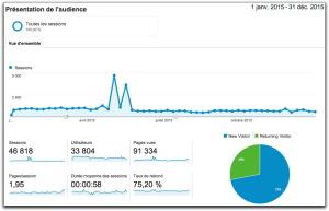 Rapport Audience de Google Analytics