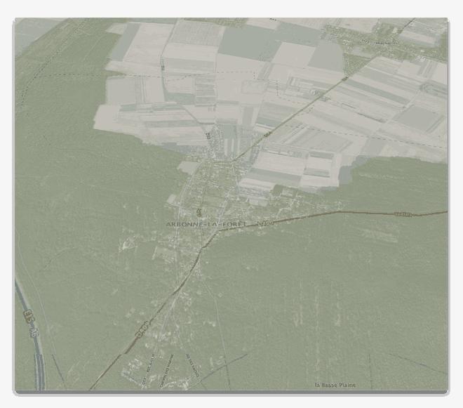 Géographie d'Arbonne-la-Foret