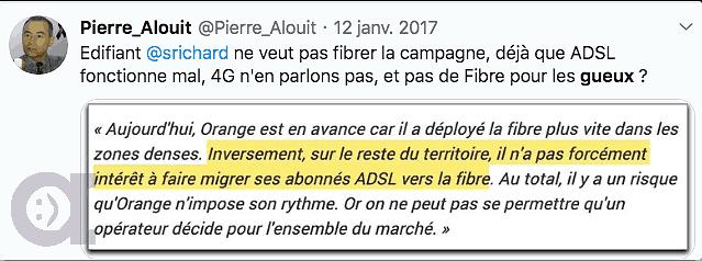 Réponse au Tweet de Stéphane Richard PDG d'Orange